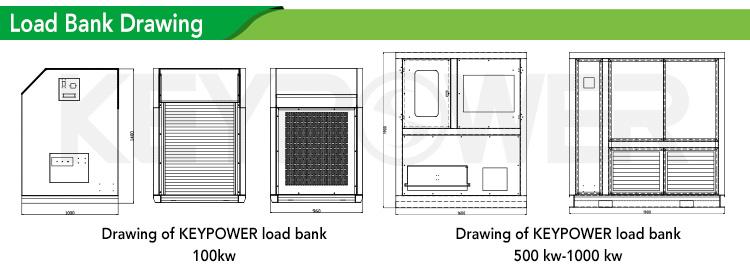 KEYPOWER Resistive 1000kw load bank for Generator Testing  Trailer rental